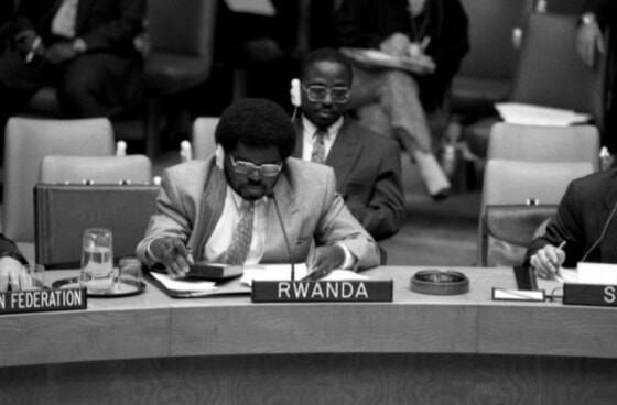 UN Security Council debate on Rwanda, June 1994. Photo credit UN photo Milton Grant
