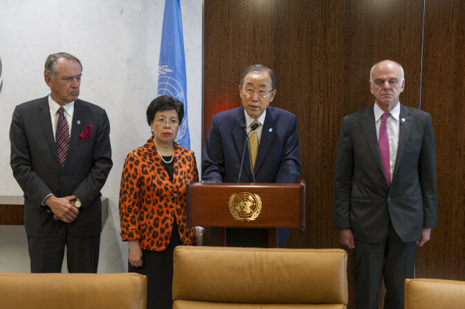 Secretary-General holds UN System Ebola Coordination Group meeting.