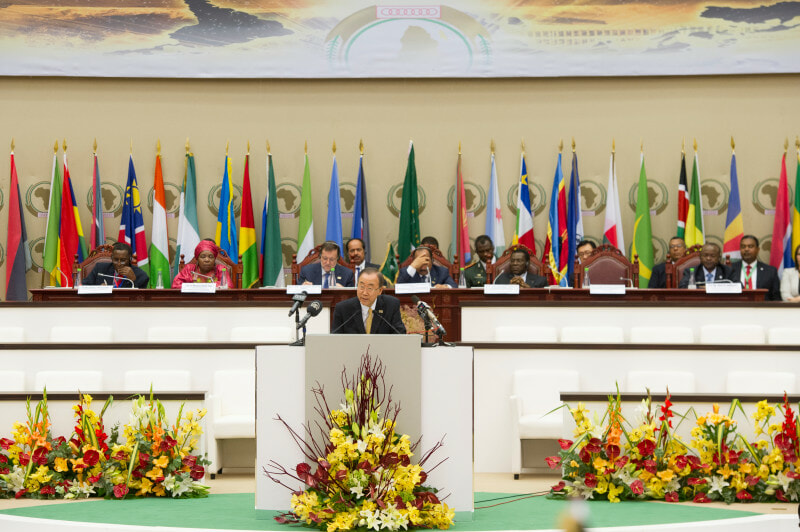 Secretary-General attends Opening Ceremony of the AU Summit.