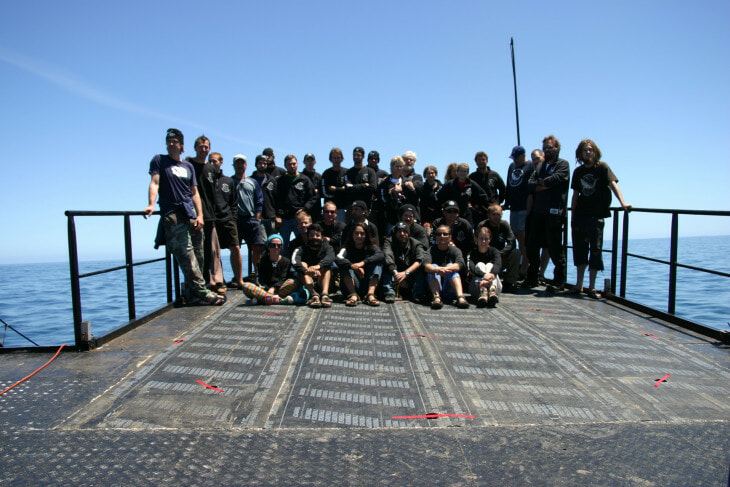 crew group photo