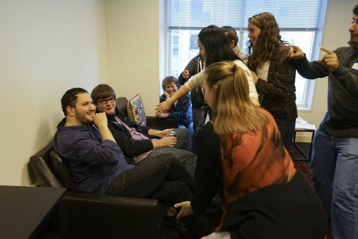 While classes are online, the Minerva students live together in a residence hall to create a tight student community.