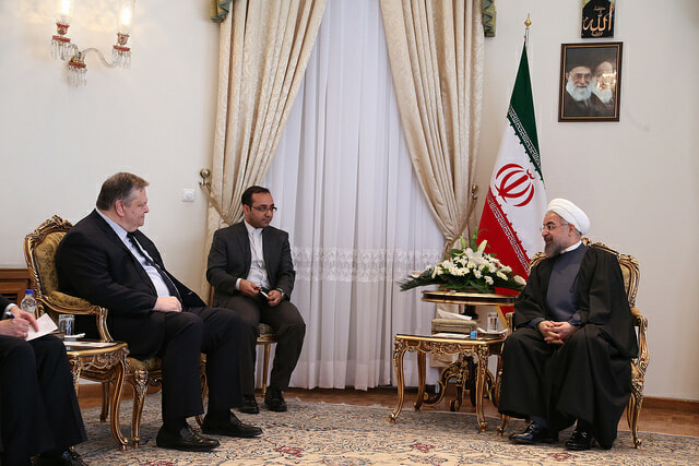 President Rouhani meets with former Greek Deputy Prime Minister Evangelos Venizelos in March of 2014. Photo courtesy of Υπουργείο Εξωτερικών via Flickr.