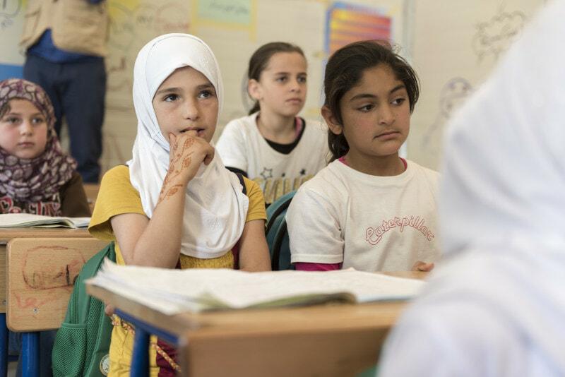 sg and world bank visit Zaatari Refugee Camp