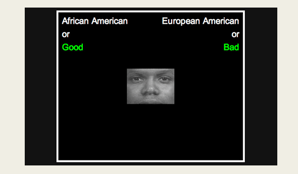 Image from an Implicit Association Test at Project Implicit