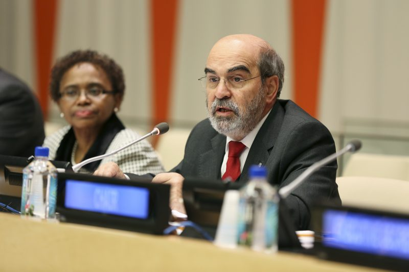 FAO Director General JosŽ Graziano da Silva addresses Group of 77 ambassadors at a meeting in the Economic and Social Council Chamber