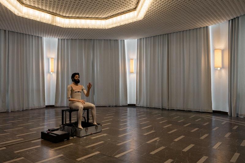 In the Photo: Goshka Macuga, Schinkel's Pavillon Installation View, Photo Credit: Fondazione Prada, Photo: Andrea Rossetti