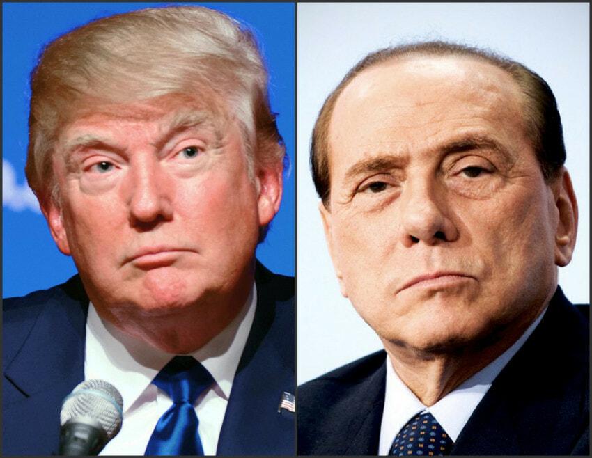 Collage Trump Berlusconi