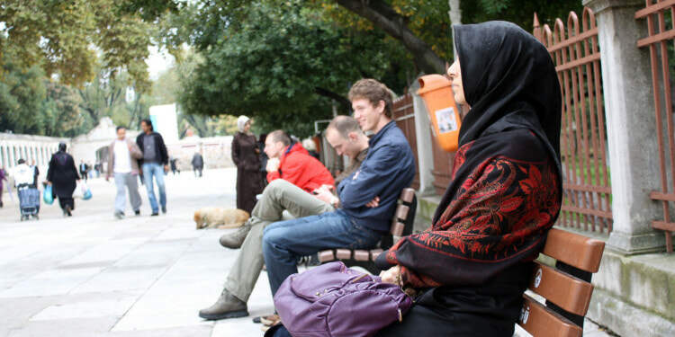 diversity -sitting-bench