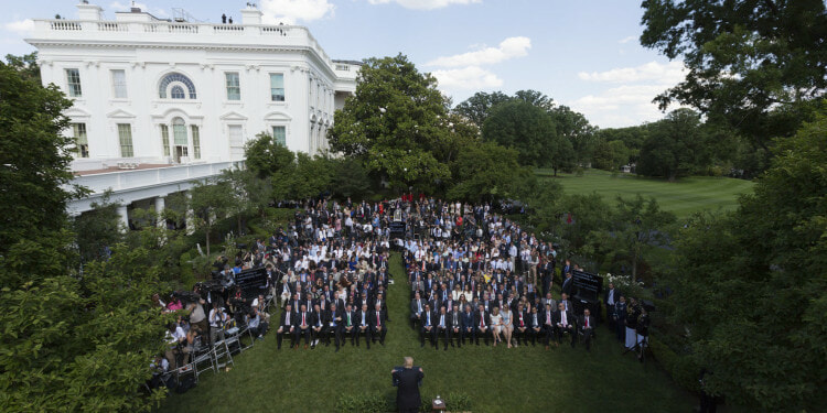 US President Donald Trump and EPA Administrator Scott Pruitt make US Paris climate agreement statement in the Rose Garden of the White House June 01, 2017. ( Official Photo by Joyce N. Boghosian)