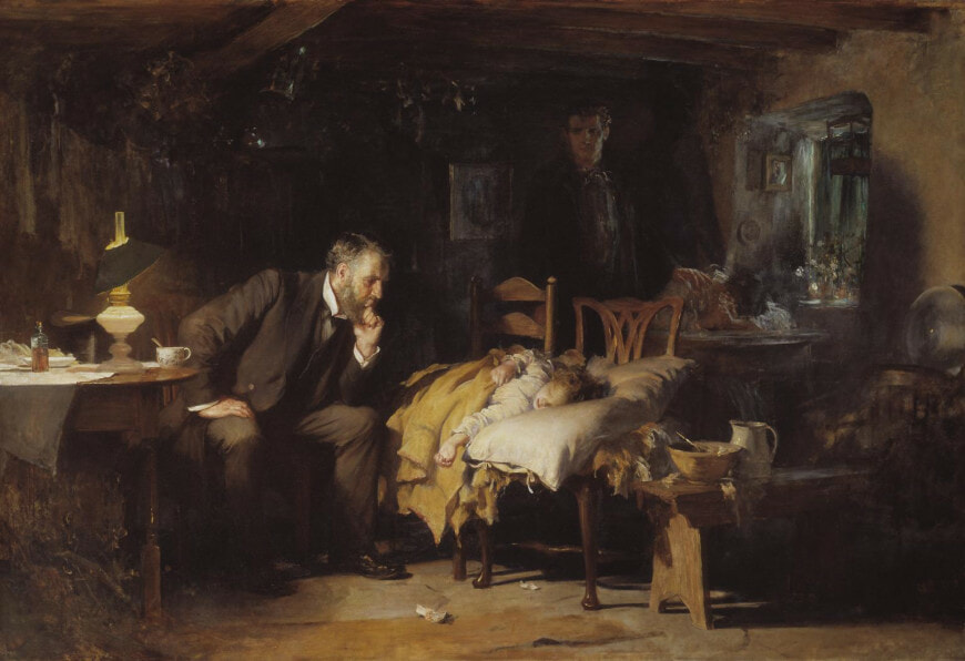 The Doctor exhibited 1891 Sir Luke Fildes 1843-1927 Presented by Sir Henry Tate 1894 http://www.tate.org.uk/art/work/N01522