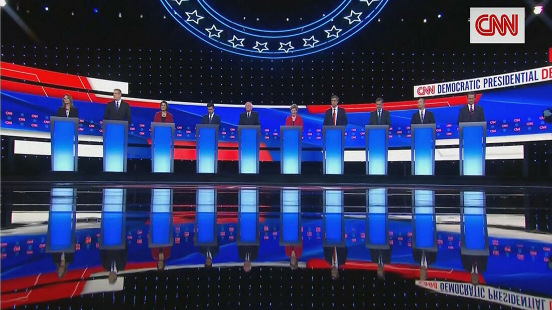 Democratic debate picture