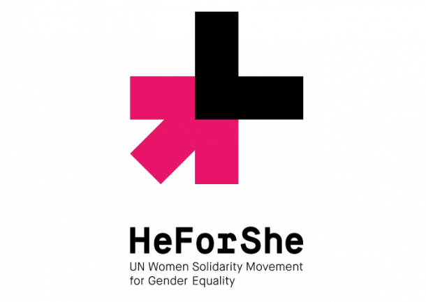 The official logo of the UN's He for She Campaign