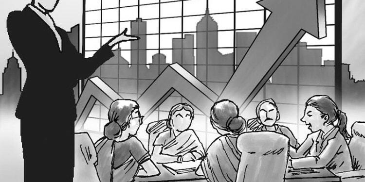 Women led business meeting