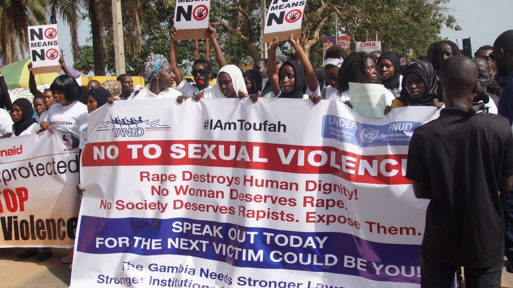 #IAmToufah Activists at a Protest to end gender-based violence