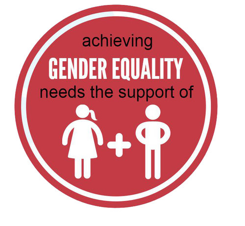 Achieving gender equality needs the support of men and women