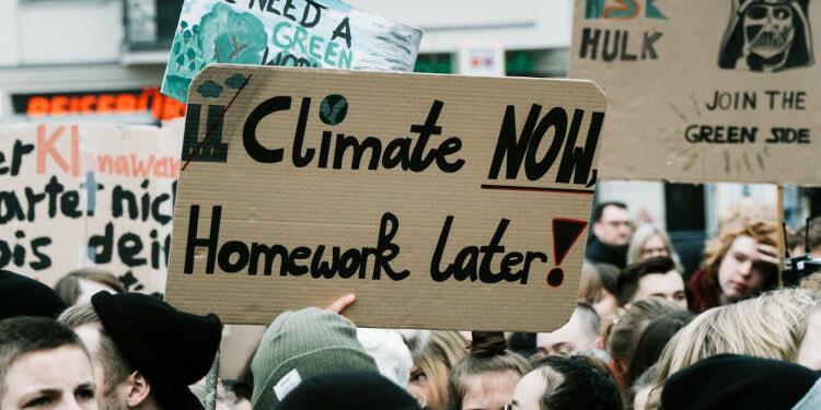 Environmental activism protest