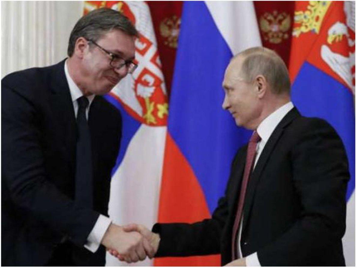 President Vladimir Putin and his Serbian counterpart