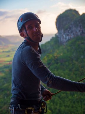 Yaro in his element at the mouth of Che Guevara Cave in Vinales.