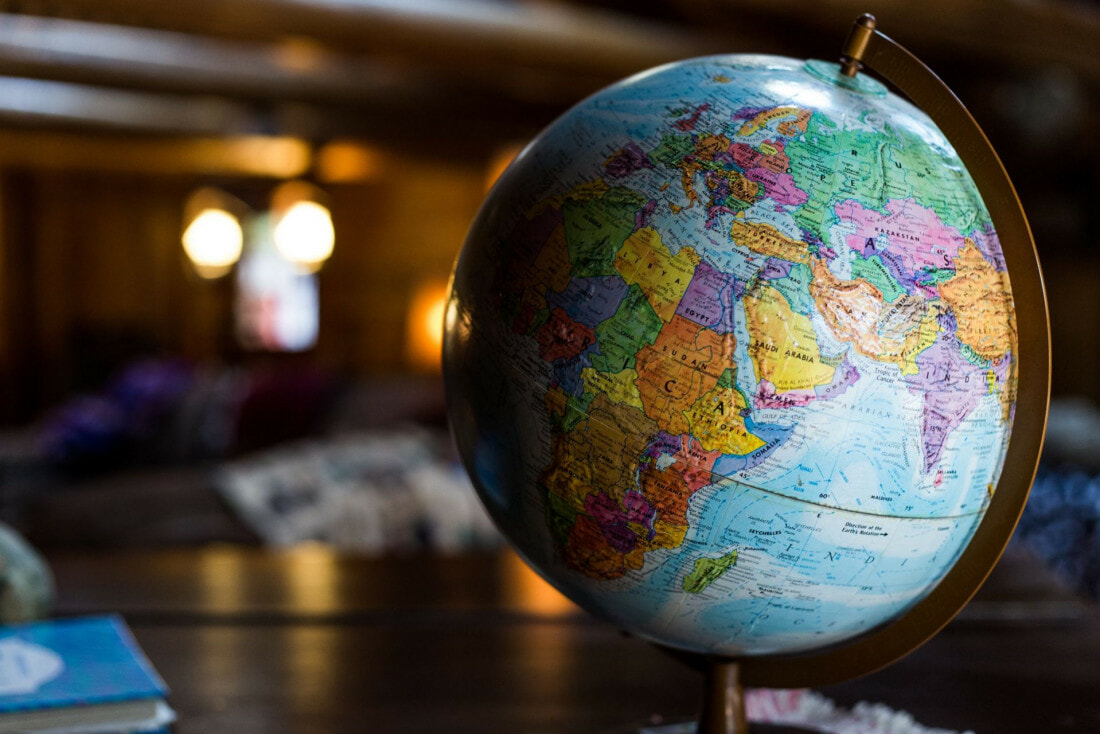 Globe depicting the Earth