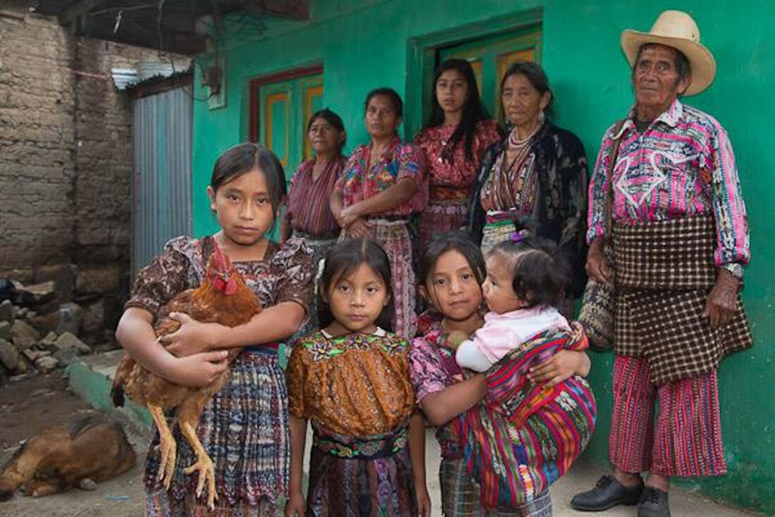 A group of present-day Mayan people