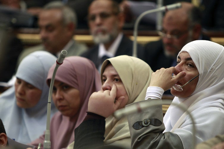 Women politicians are relatively rare in the Arab world. Credit: Reuters