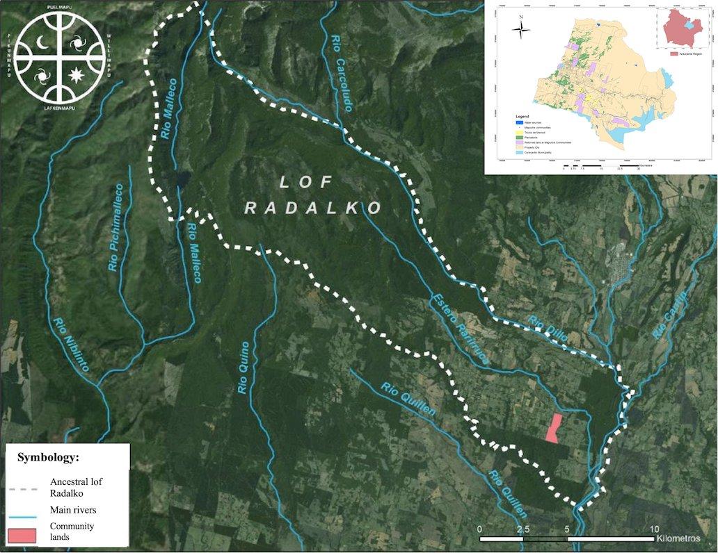 Map depicting Lof Radalko territory