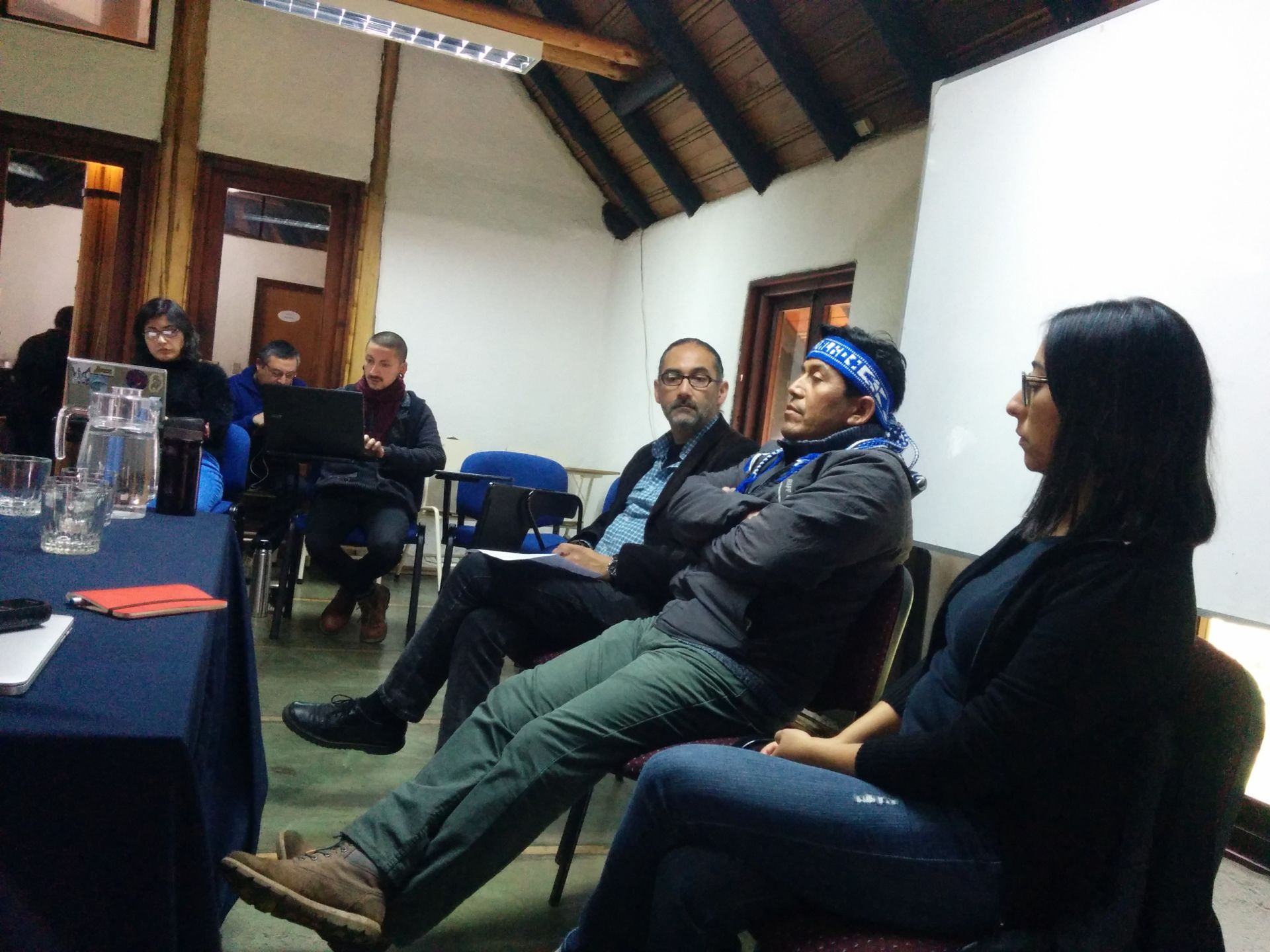 Panel discussing Mapuche