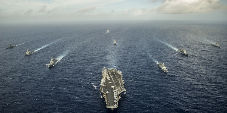 ships in indo pacific