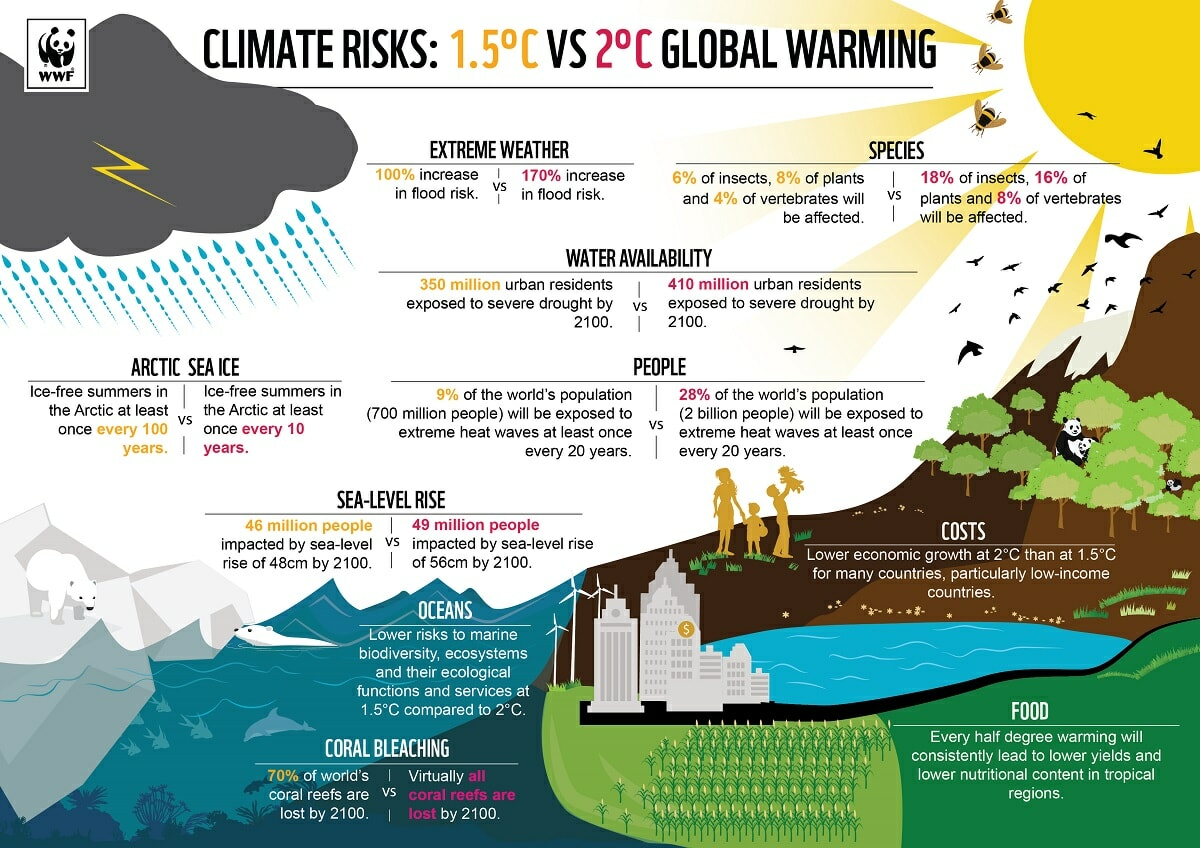 Climate risks and global warming