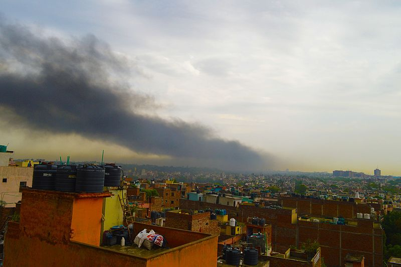 the crop burning in the surrounding states of Punjab and Haryana