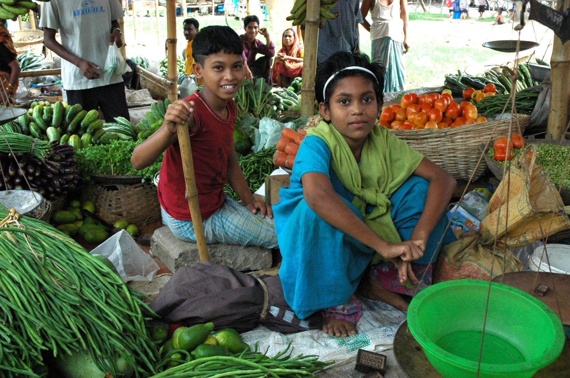 Children in Market