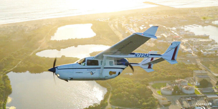 In the photo: Ampaire EEL Hybrid Electric Aircraft. Photo credit: Ampaire.