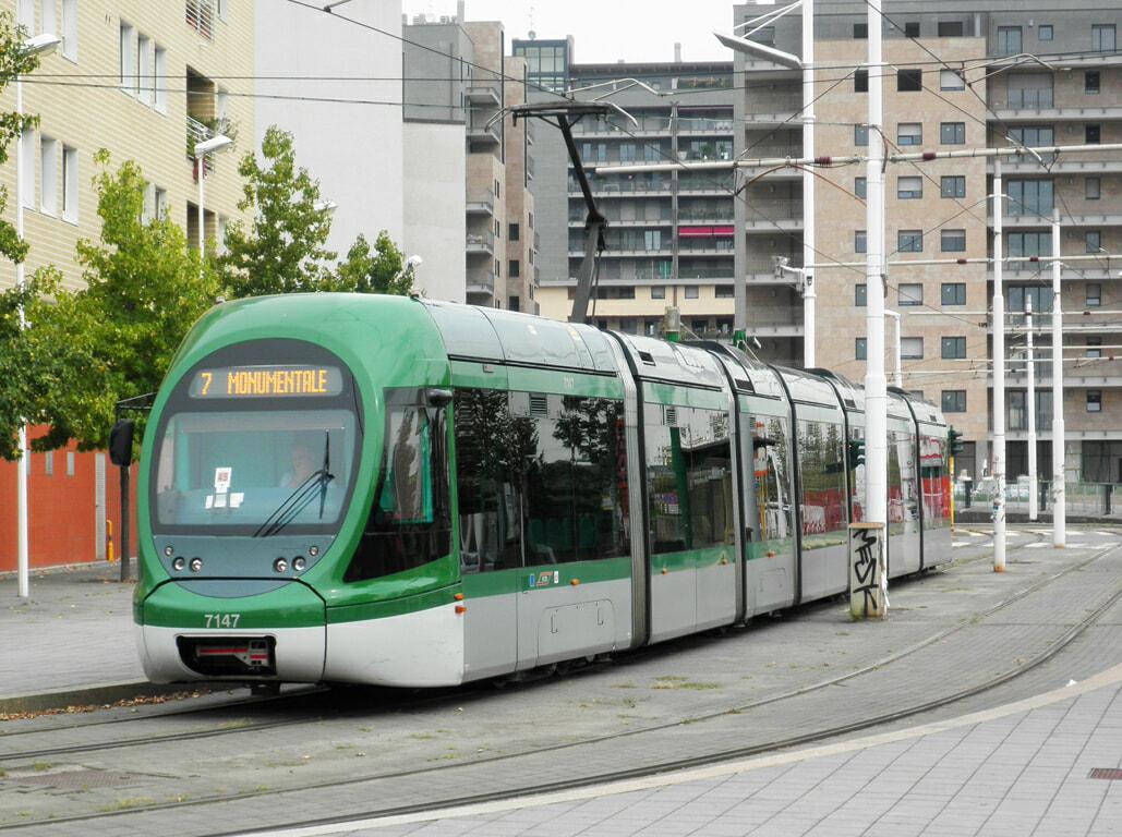 Milan electric tram