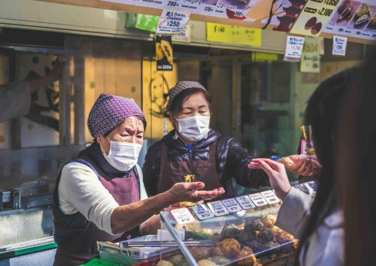 Japanese street food market