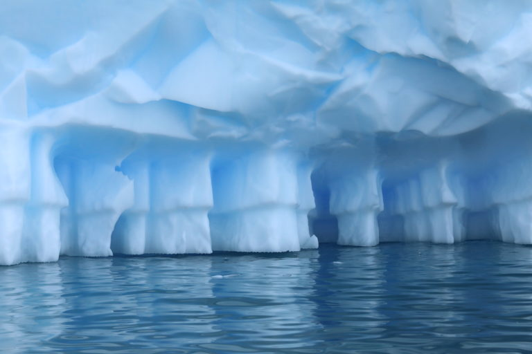 Warming is resulting in ice loss, including melting underneath glaciers.