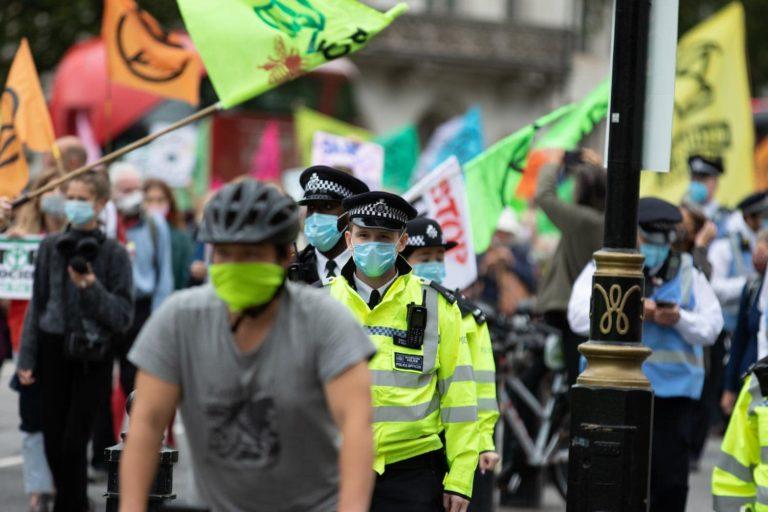 London Metropolitan Police at XR protest
