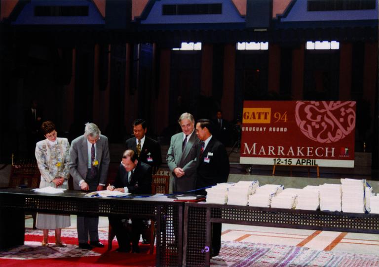 WTO Marrakesh Agreement historic sustainable development
