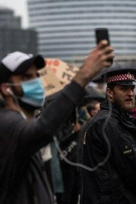 Protesting and social media