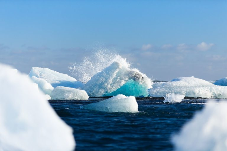 Icebergs in Vatnajokull, Iceland