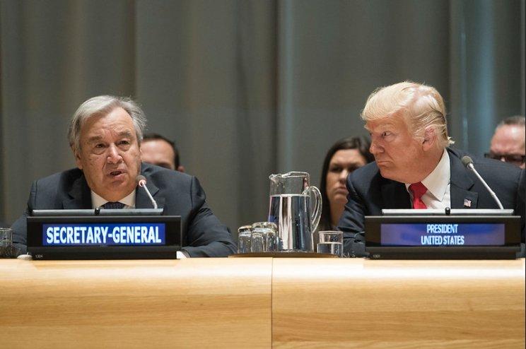 Secretary-General António Guterres and Donald Trump