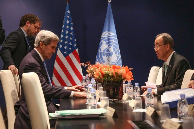 John Kerry meets Ban Ki-moon