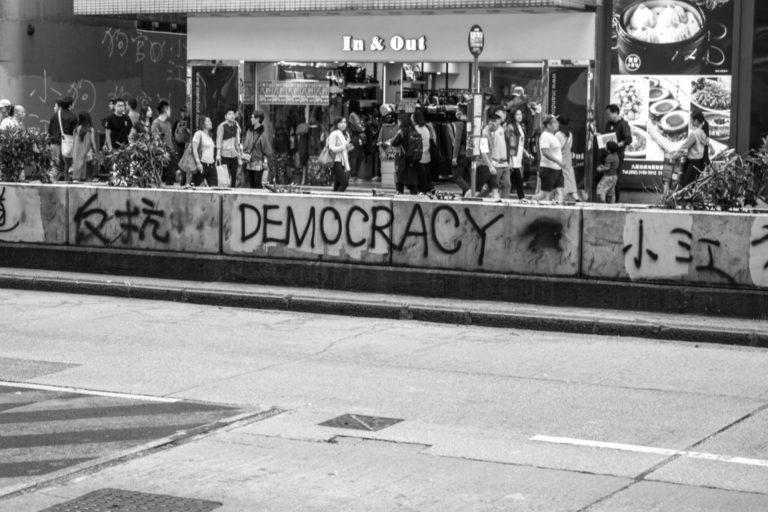 Hong Kong's nathan road during 2019 protests.