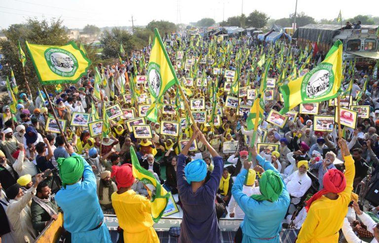 Farmers protesting in Punjab