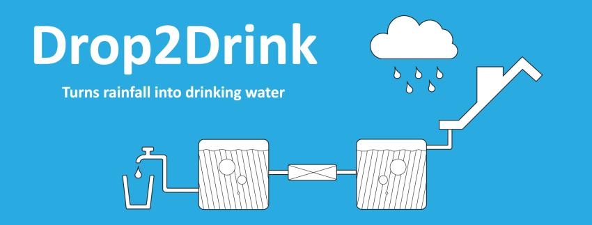 drinking water from rainwater