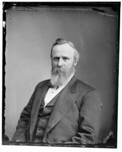 Former President Rutherford B. Hayes, the controversial winner of the 1876 election.