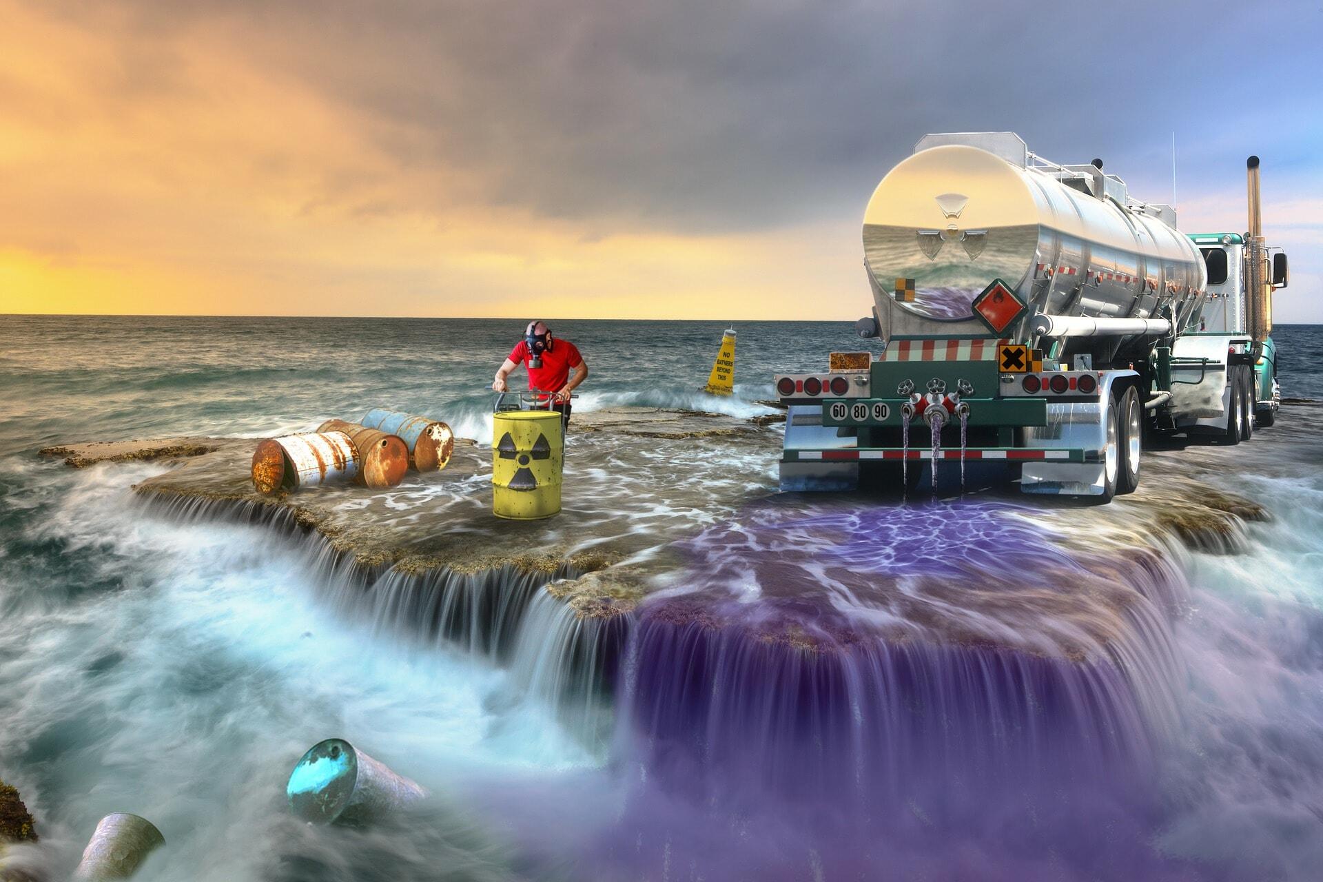 seas pollution