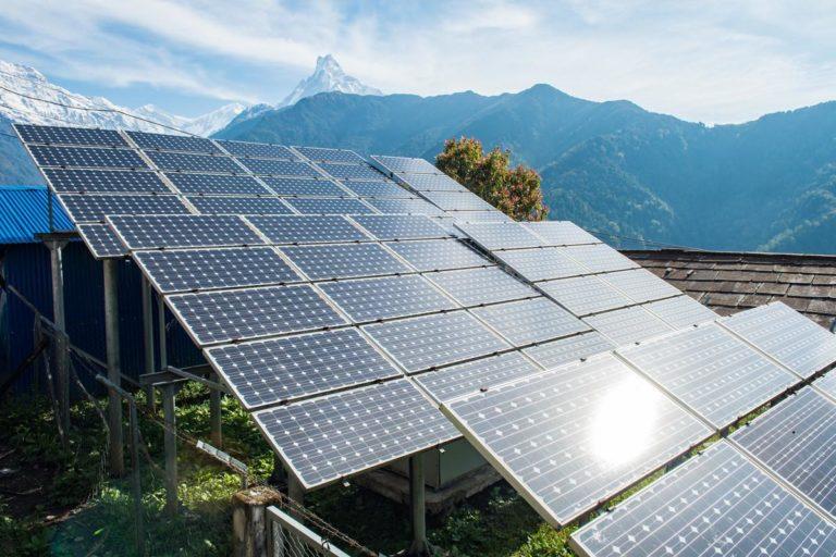 solar-panels-Nepal carbon