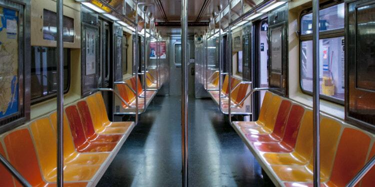 Empty New York City metro