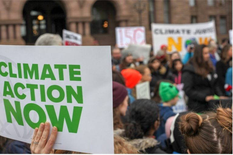 Climate Activists at Protest