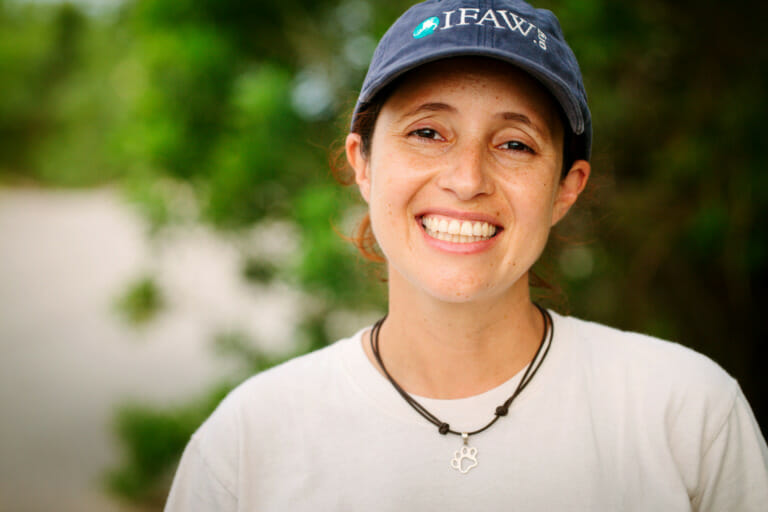 Erika Flores who protects animals in Mexico